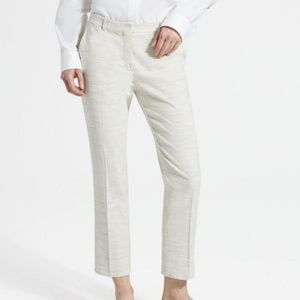 Theory Sharkskin Crunch Cropped Tailored Trouser
